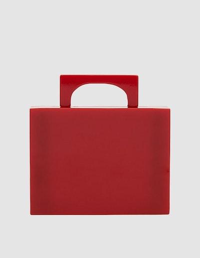Alexa Resin Bag in Red