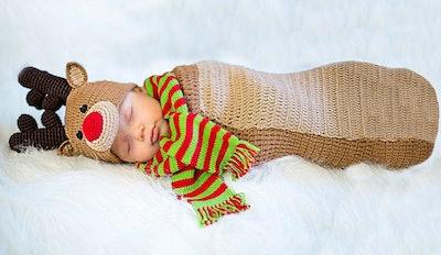 Baby Crochet Cocoon Randolph Reindeer Costume