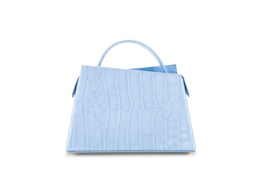 Maurice Sky Blue Croco Embossed Leather