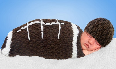 Baby Crochet Cocoon Football Costume