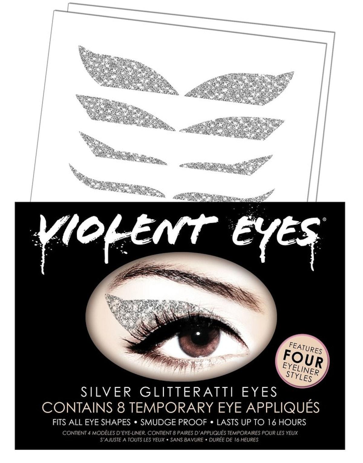 Violent Eyes Silver Glitterati Appliqués