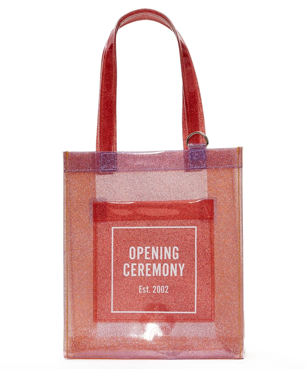 Opening Ceremony Clear Glitter Logo Tote