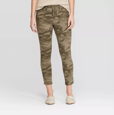 Universal Thread Women's High-Rise Camo Print Skinny Crop Jeans