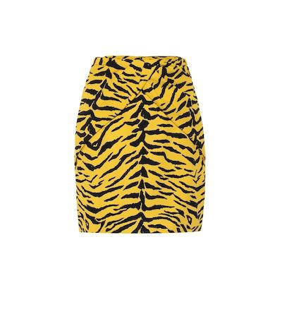 Zebra Print Mini Skirt