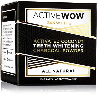 ActiveWow 24K White Activated Coconut Teeth Whitening Charcoal Powder
