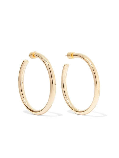 Baby Lilly Gold-Plated Hoop Earrings