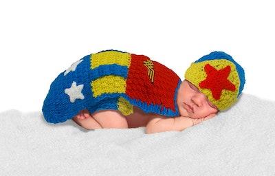 Baby Crochet Diaper Cover Wonder Woman Costume