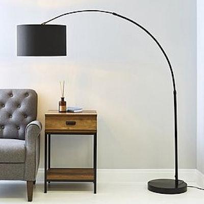 Damien Black Arc Floor Lamp