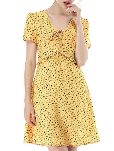 Allegra K Floral Summer Dress