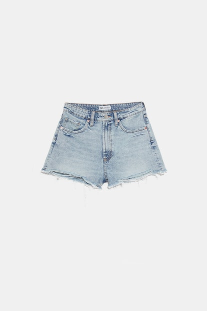 Edited Hi Rise Denim Shorts