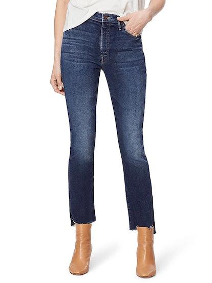 The Insider High Waist Crop Step Fray Jeans