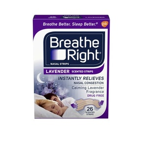 Breathe Right Lavender Nasal Strips (26 Strips)