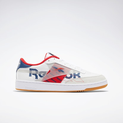 """Club C 85 Shoes in """"White/Vital Blue/Primal Red"""""""