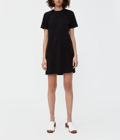 T-Shirt Dress in Stone Black