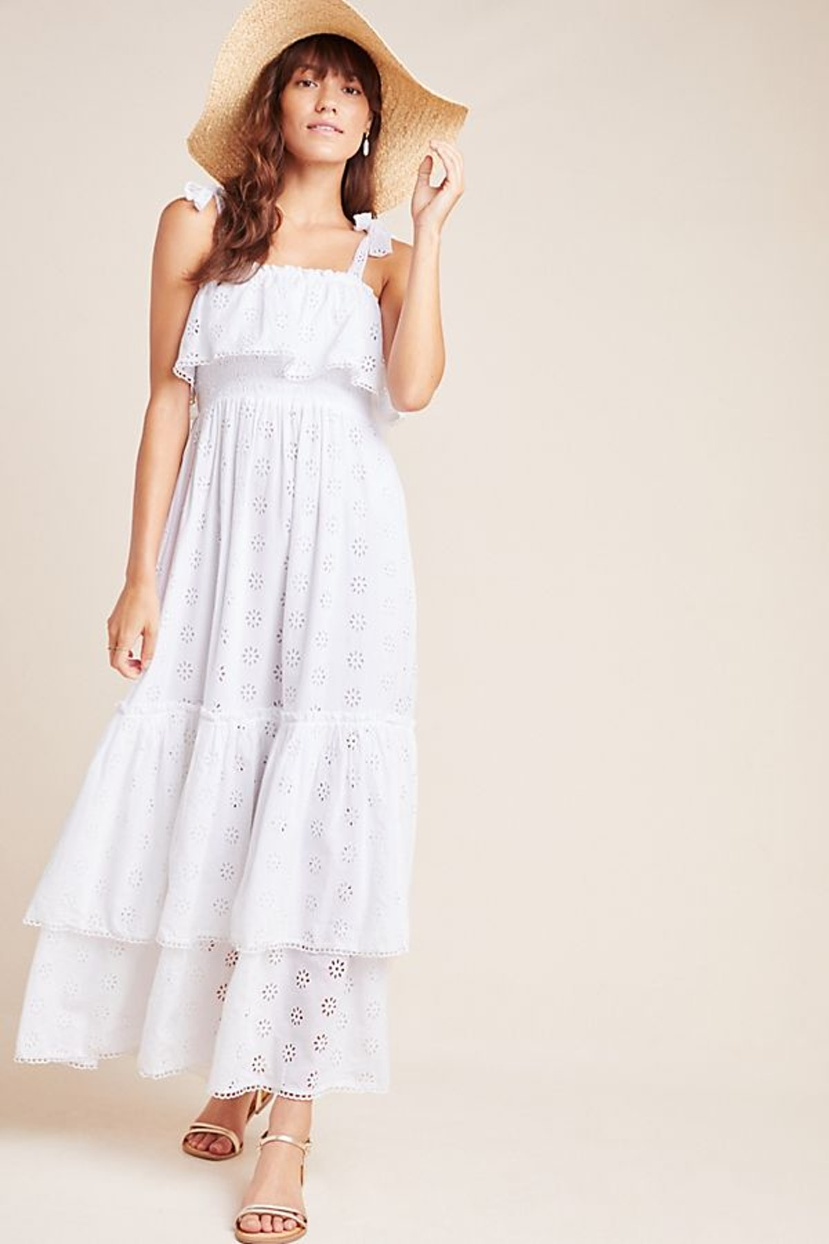 Linnea Tiered Eyelet Maxi Dress