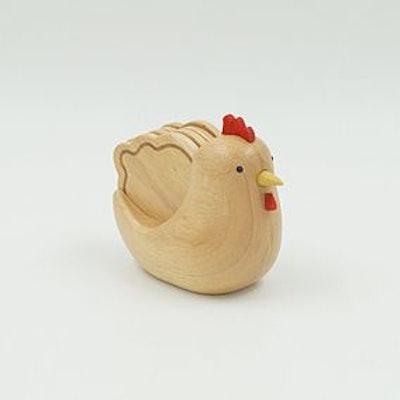 Set Of 4 Wooden Hen Coasters