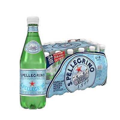 S. Pellegrino Sparkling Natural Mineral Water 16.9 Fl Oz. (24 Count)