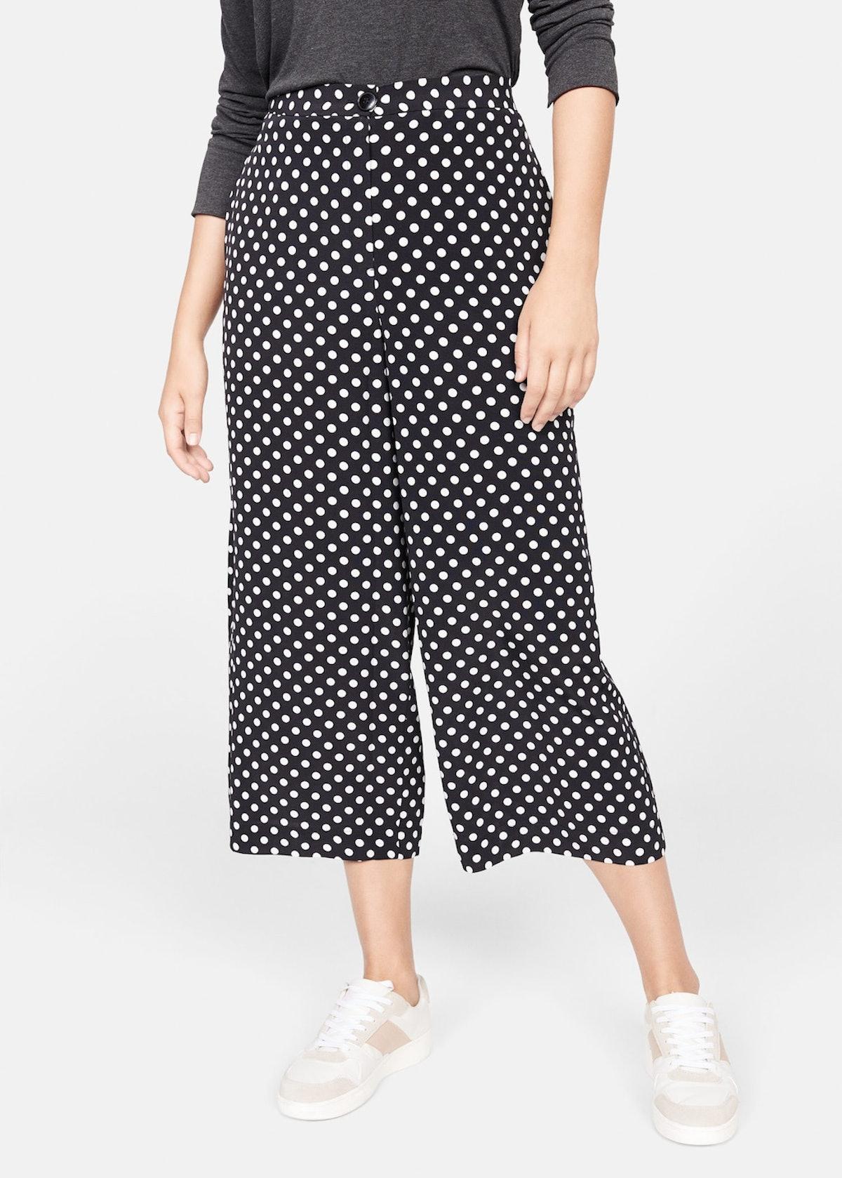 Polka-Dot Culottes Trousers
