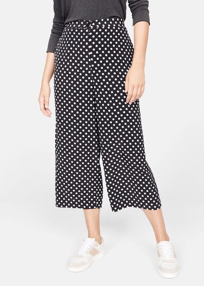 Polka-Dot Culottes Trousers