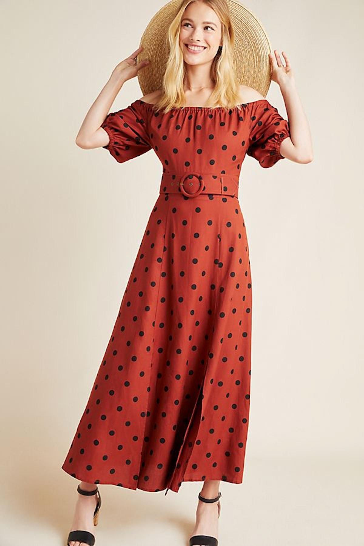 Lucienne Off-The-Shoulder Maxi Dress