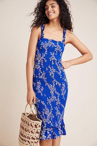 Faithfull Farah Smocked Midi Dress