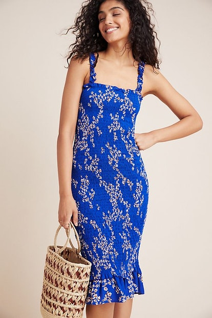 Faithfull Farah Smocked Midi Dress