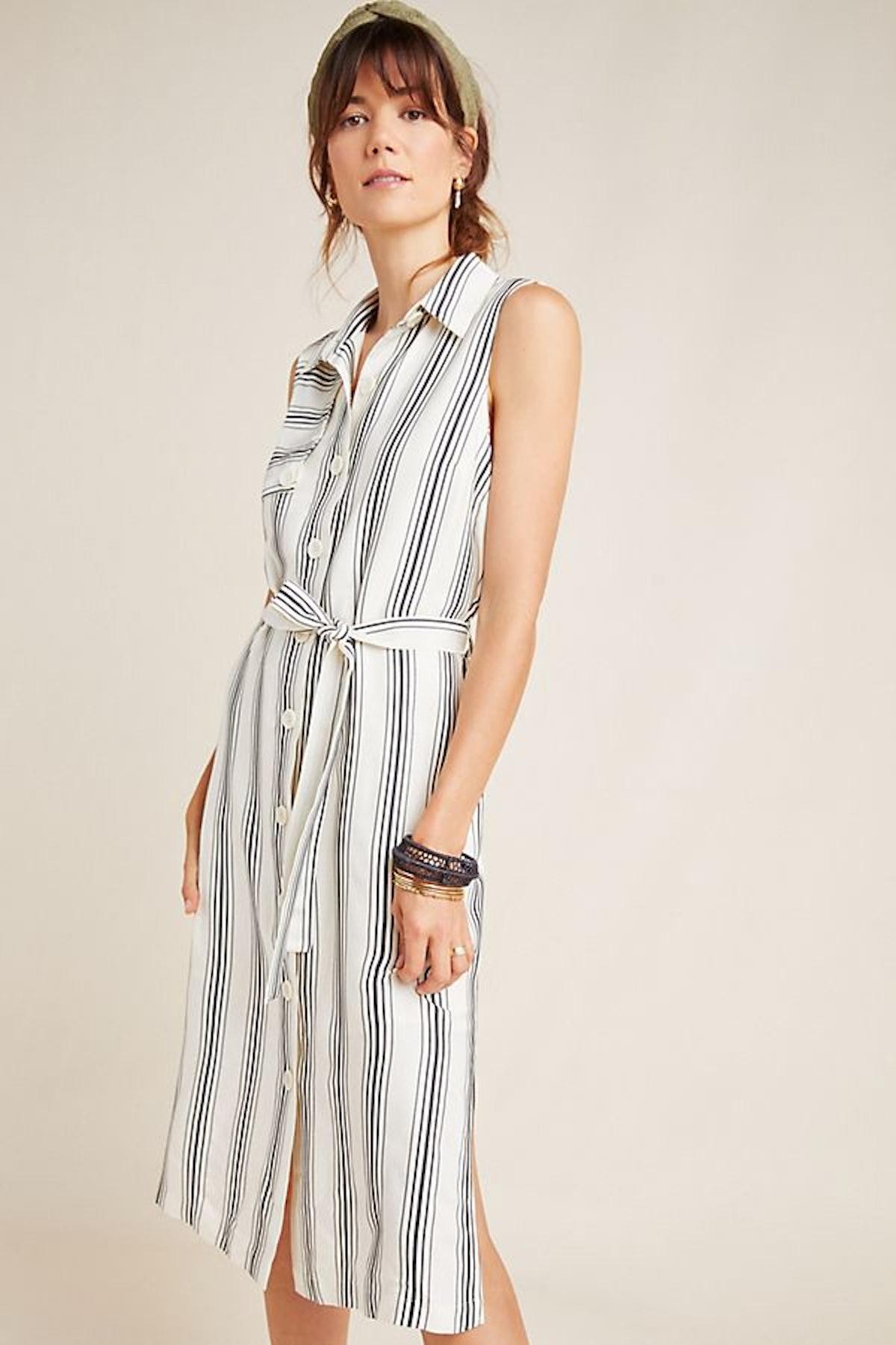 Esther Striped Shirtdress