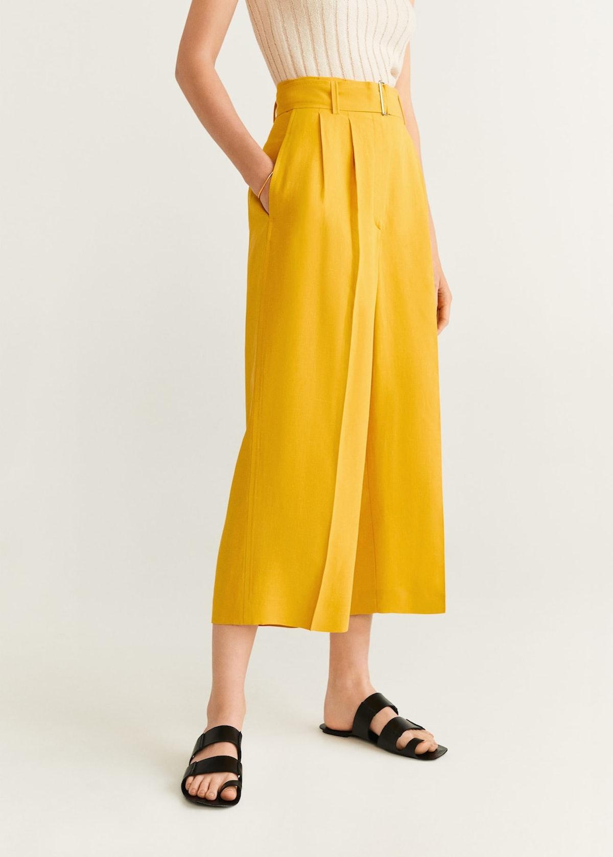 Linen Paper Bag Pants