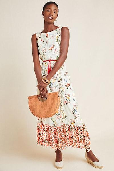 Farm Rio for Anthropologie Jemima Floral Maxi Dress