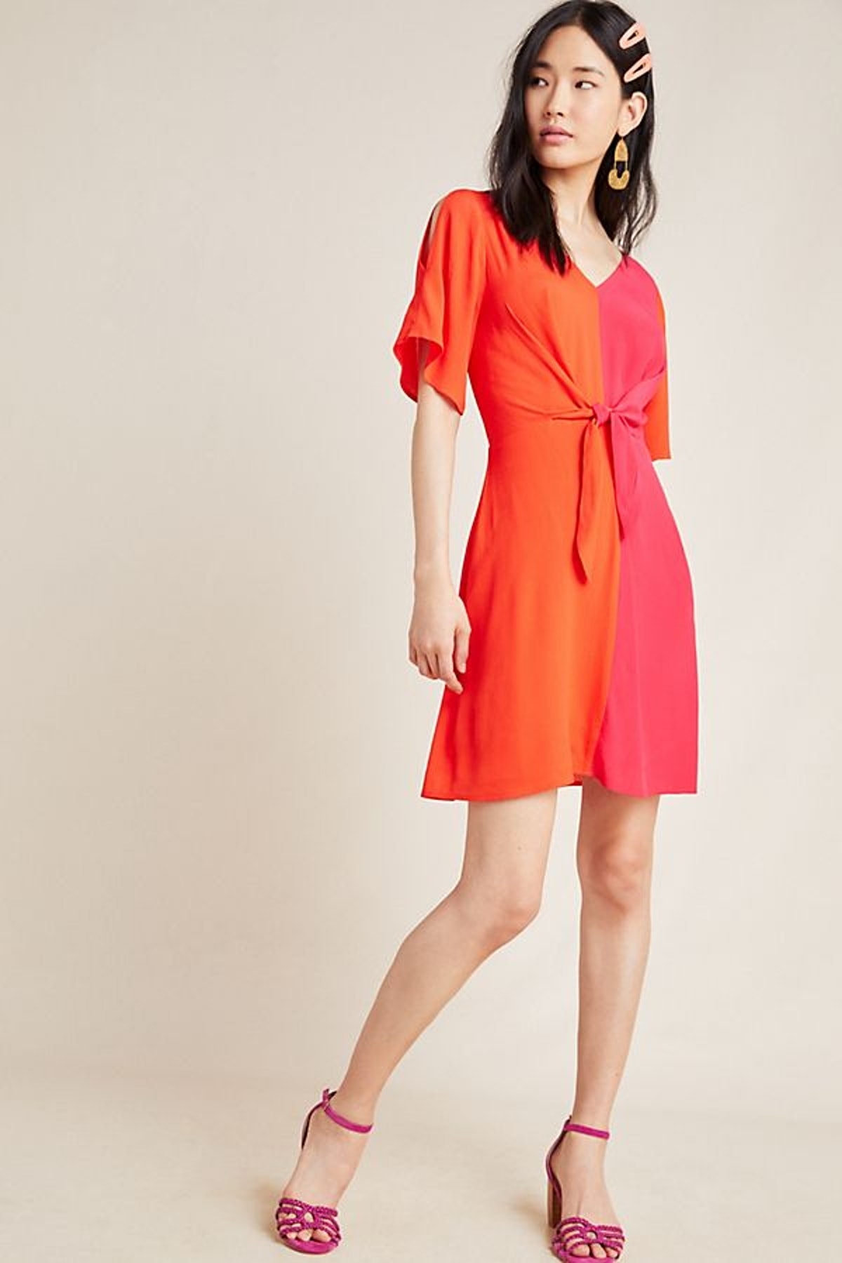 Kacie Colorblocked Mini Dress
