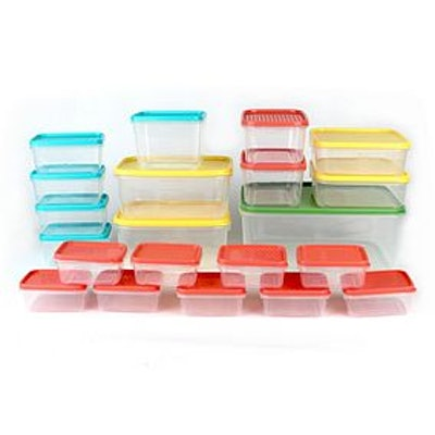 21 Piece BPA Free Plastic Food Storage Containers