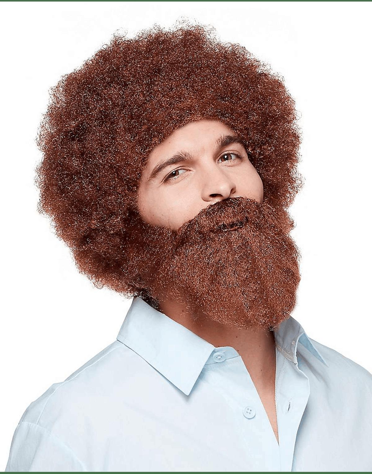 Bob Ross Wig & Beard