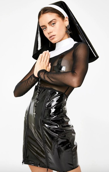 Kat wears a latex nun costume for Halloween on 'Euphoria.'