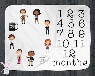 'The Office' Monthly Milestone Blanket