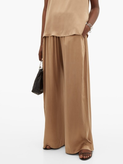 The Standard Flare Silk Trousers