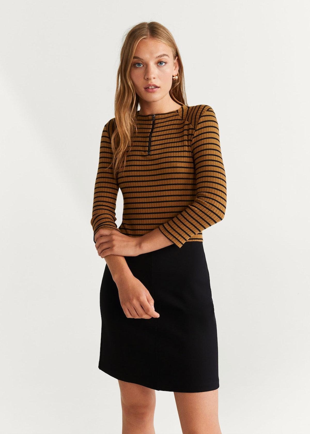 Striped contrast dress