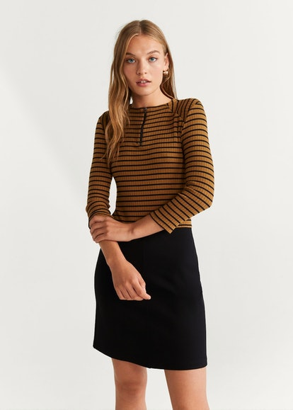 Striped contrast dress