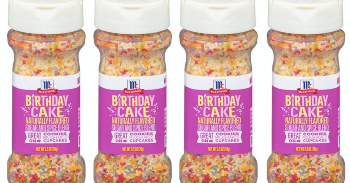 McCormick's Sugar & Spice Blends Let You Sprinkle Birthday Cake On Everything