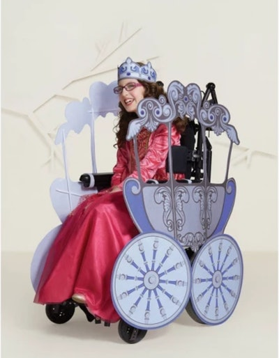 Princess Carriage Halloween Costume Wheelchair Cover