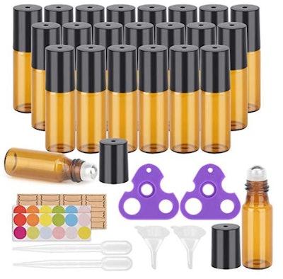 Easytle Essential Oil Roller Bottles (24-Pack)