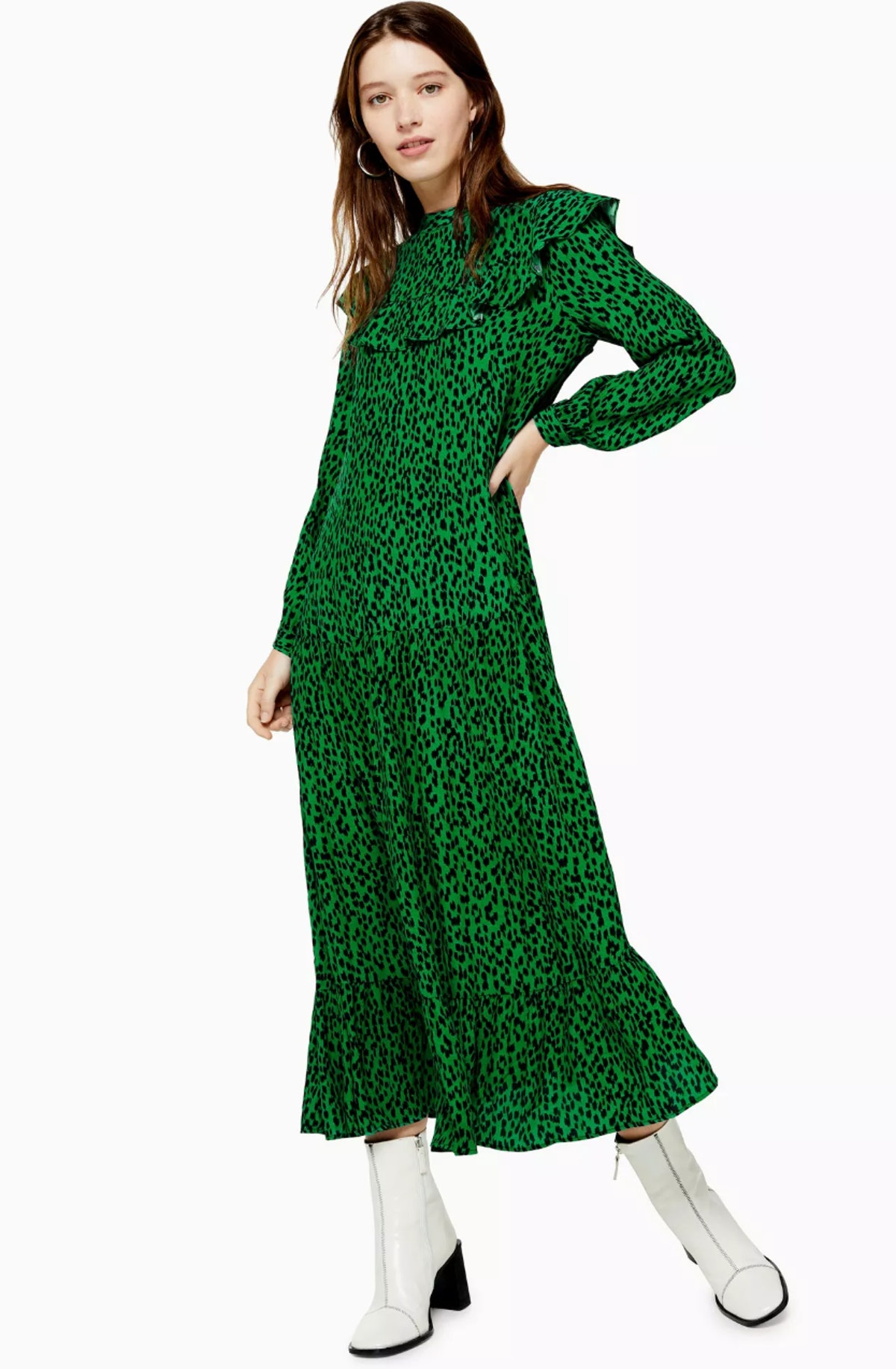 Yoke Chuckon Midi Dress