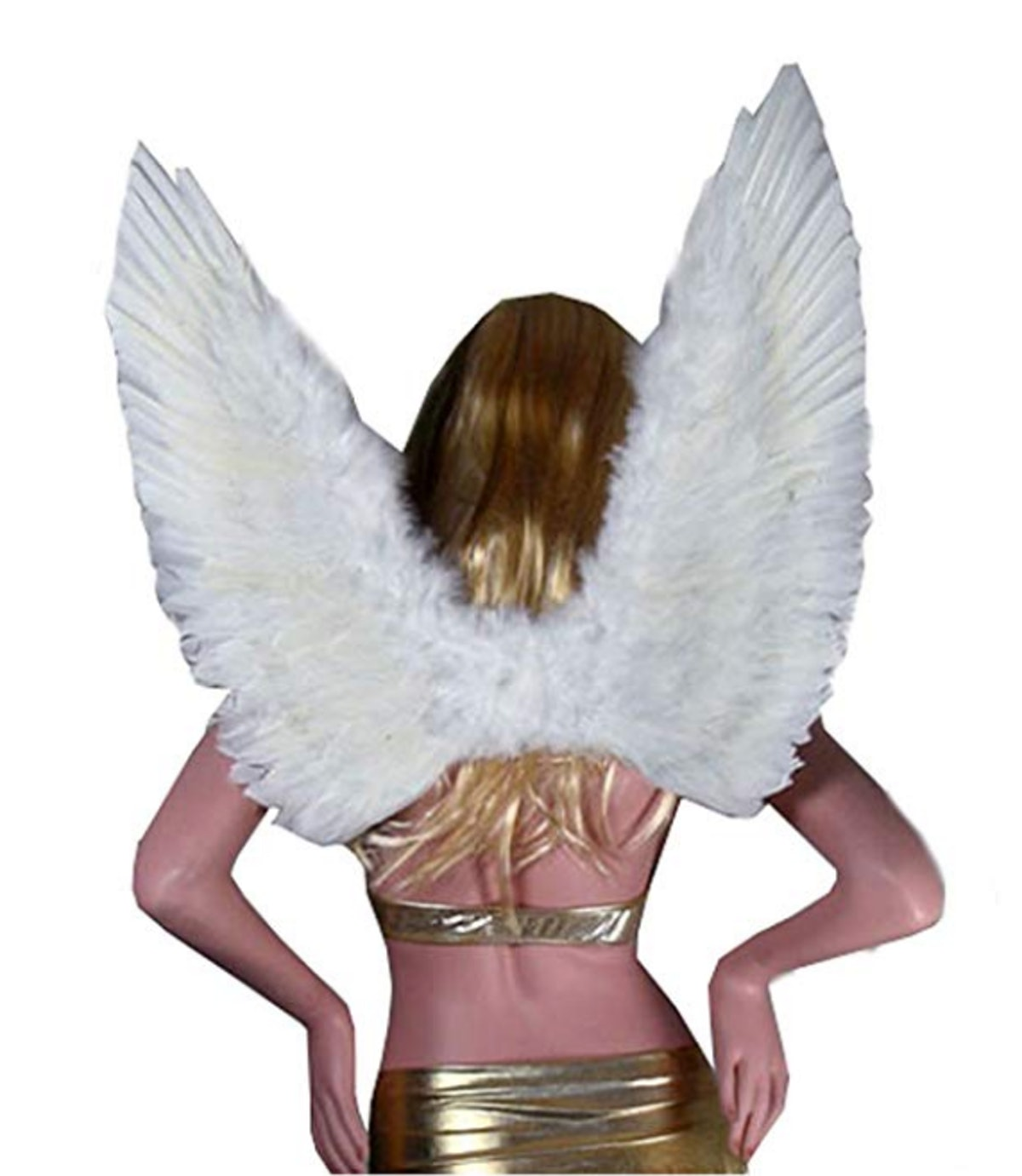 SACAS Large White Feather Angel Wings