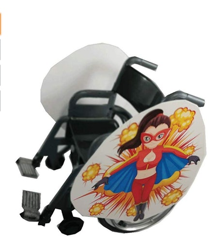 Super Lady Wheelchair Costume
