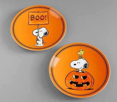 Charlie Brown Halloween Plates