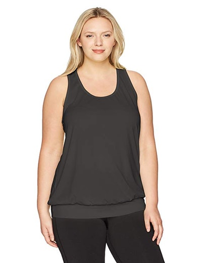 Just My Size Women's Plus-Size Active Mesh Banded Tank