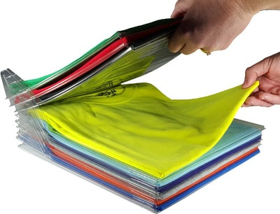 EZSTAX Closet Organizer & Shirt Folder (20-Pack)