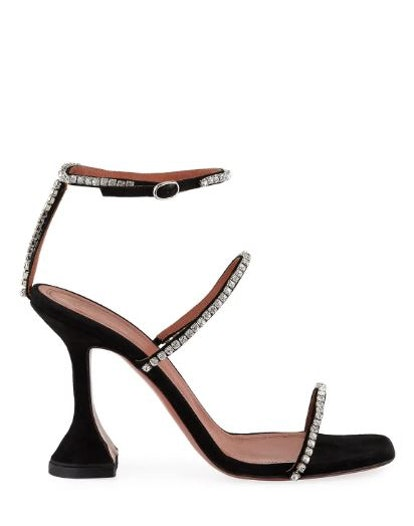 Gilda Suede and Crystal Sandals