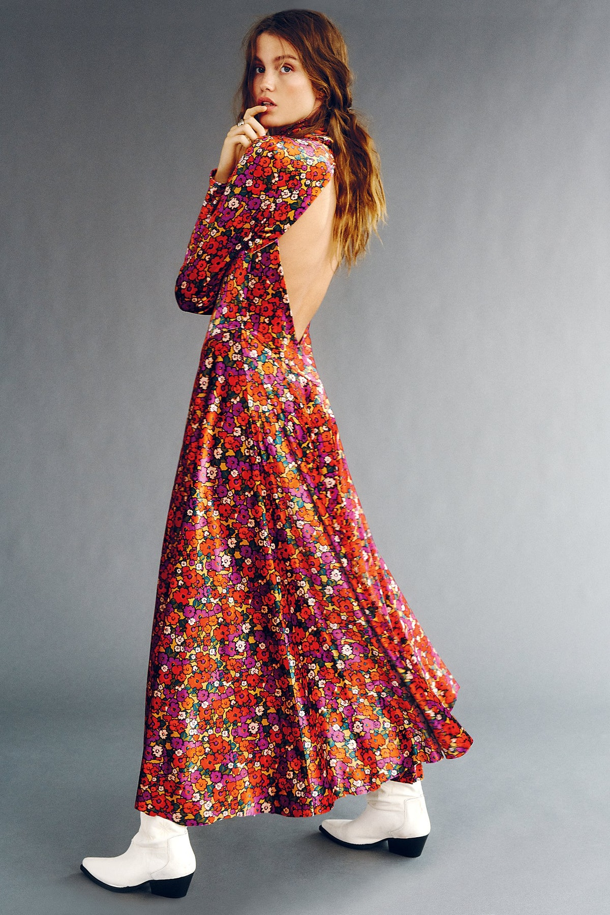 Heartland Crushed Velvet Maxi Dress
