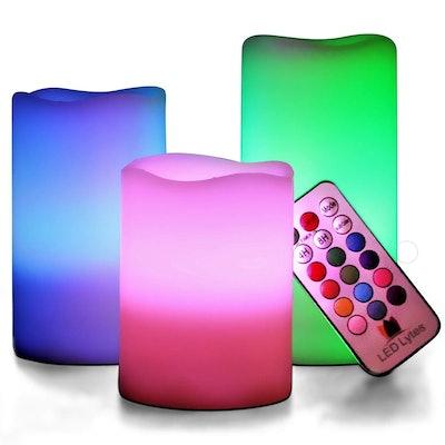 LED Lytes Multicolored Flameless Candles