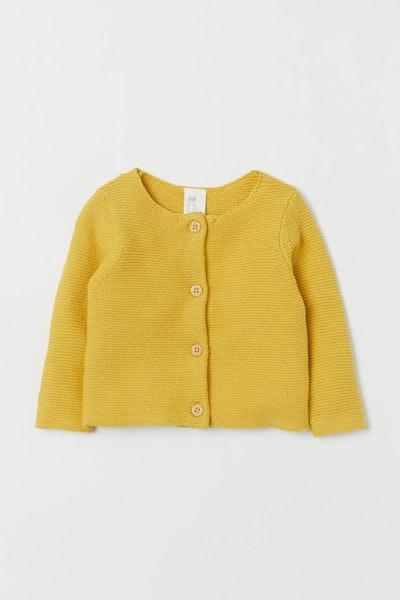 Garter-stitch Cotton Cardigan